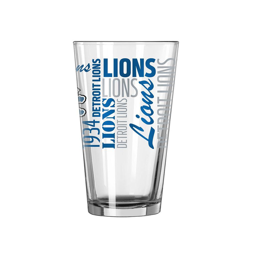 Detroit Lions 2-piece Pint Glass Set