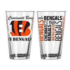 Cincinnati Bengals 2 pc Pint Glass Set