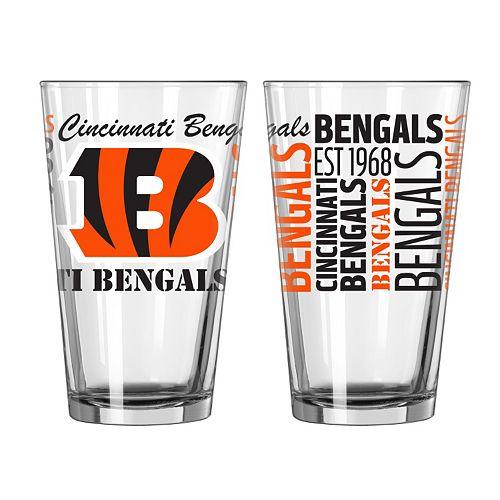 Cincinnati Bengals 2-piece Pint Glass Set