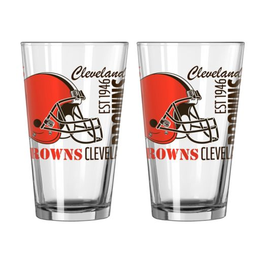 Boelter Cleveland Browns Spirit Pint Glass Set