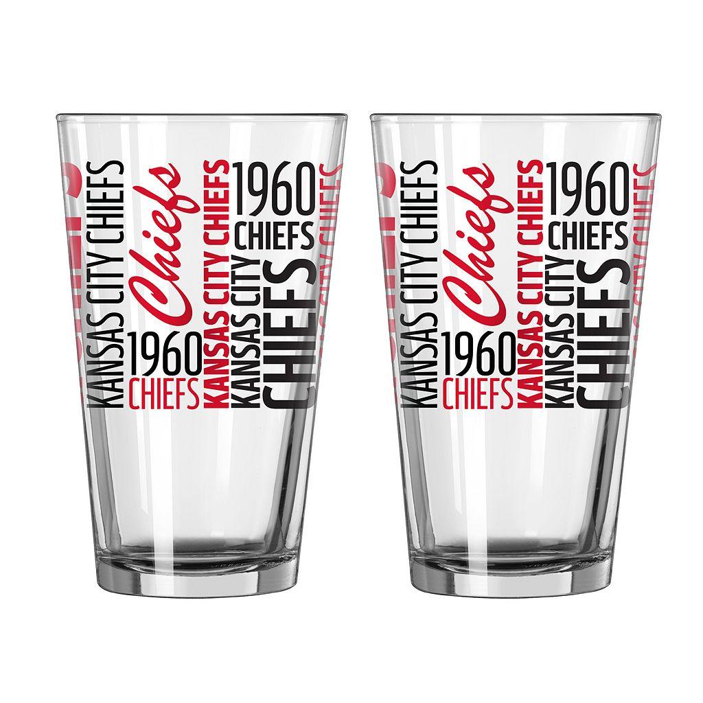 Boelter Kansas City Chiefs Spirit Pint Glass Set