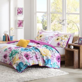 Intelligent Design Ashley Reversible Quilt Set