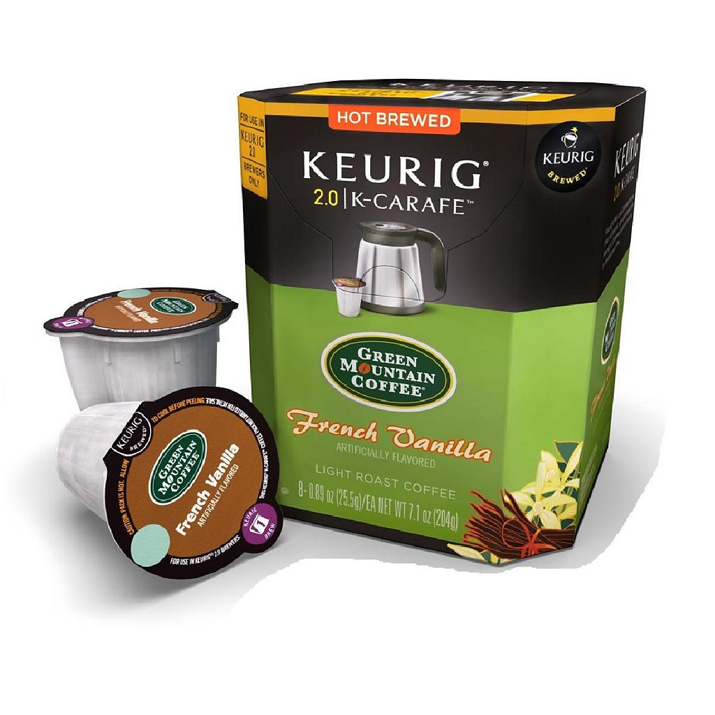 Keurig® K-Carafe™ Pod Green Mountain Coffee French Vanilla - 8-pk.