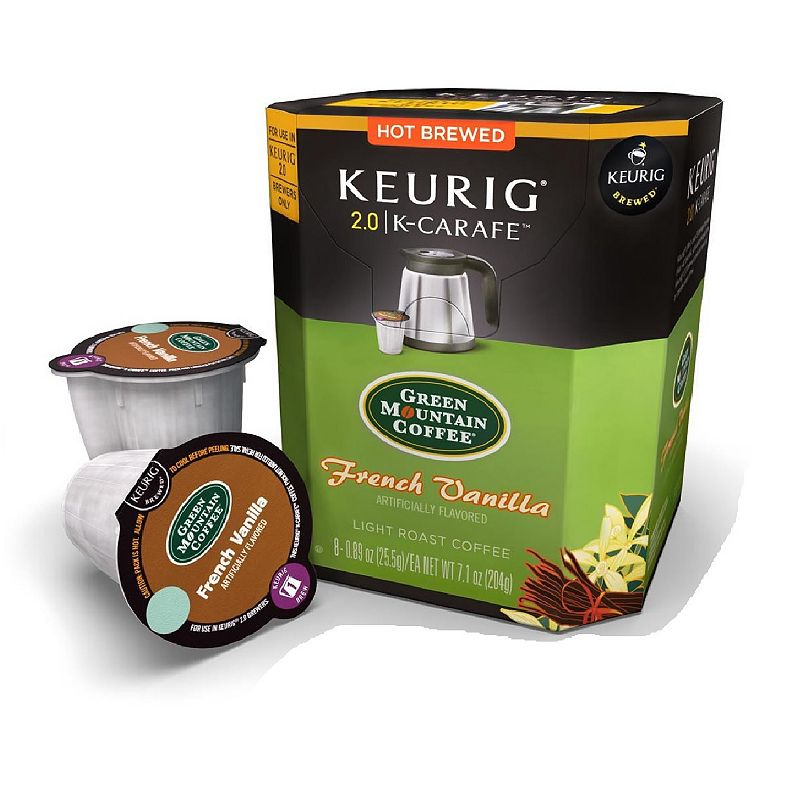 Keurig K-Carafe Portion Pack Green Mountain Coffee French Vanilla - 8-pk. (Multicolor)