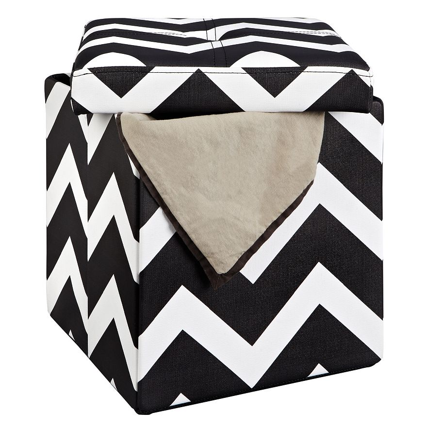 Simplify Folding Storage Ottoman - Dorm Decor: Make College Living More Livable With These Ideas