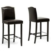 Baxton Studio 2 pc Libra Bar Stool Set