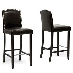 Baxton Studio 2-piece Libra Bar Stool Set