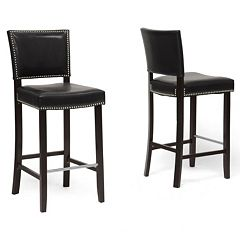 Baxton Studio 2-piece Aries Bar Stool Set