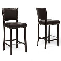 Baxton Studio 2 pc Aries Bar Stool Set