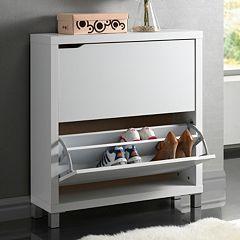Baxton Studio Simms Shoe Cabinet