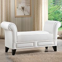 Baxton Studio Marsha Scroll Bench