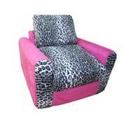 Fun Furnishings Animal Print Sleeper Chair - Kids