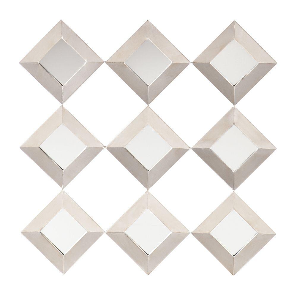 Southern Enterprises Wrinn Mirrored Wall Decor