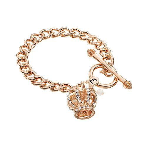 Toggle Charm Bracelet: NEW! Juicy Couture Fashion Crown Charm Toggle Bracelet