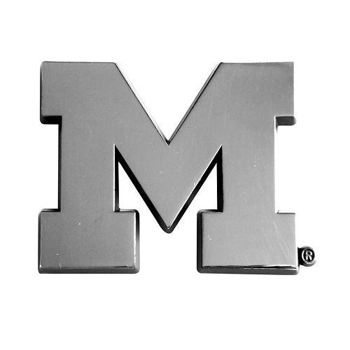 Michigan Wolverines Auto Emblem