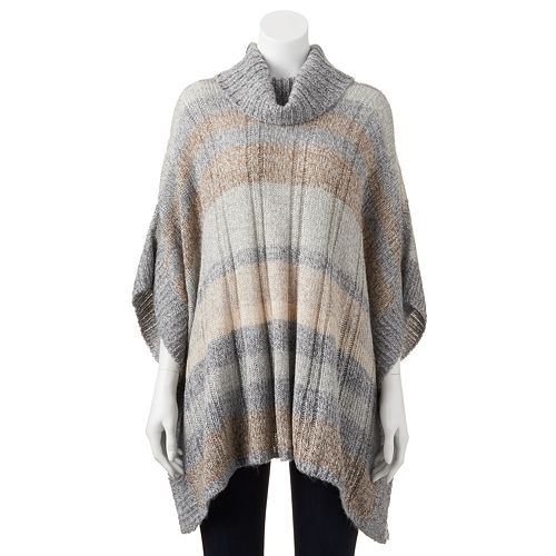 fafbec3df90c Women's SONOMA Goods for Life™ Striped Cowlneck Sweater Poncho