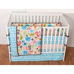 Sumersault Sunshine Safari 4-pc. Crib Bedding Set  by