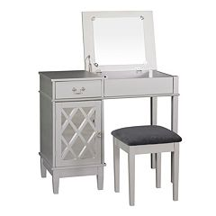 Linon Lattice 2 pc Vanity Set