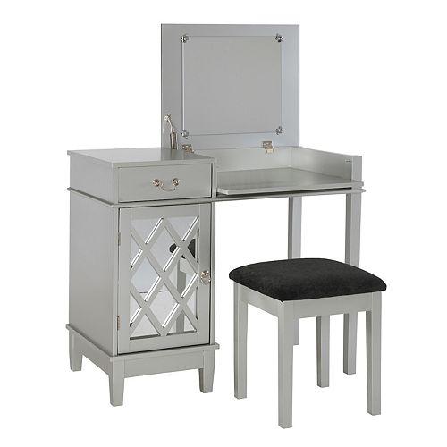 Linon Vanity Set: Linon Lattice 2-piece Vanity Set