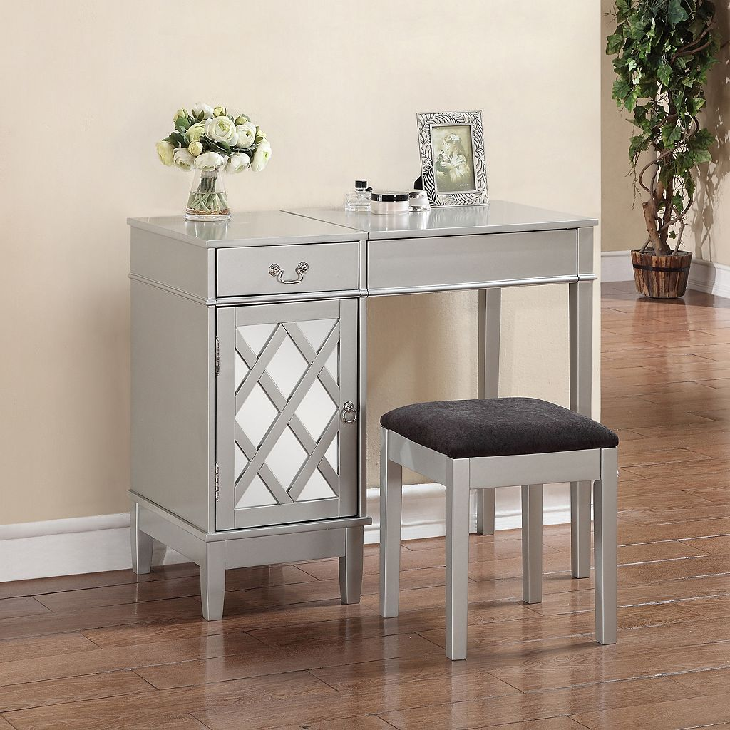 Linon Lattice 2-piece Vanity Set