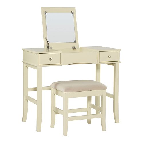 Linon Jackson Vanity Set With Mirror Reviews: Linon Jackson 2-piece Vanity Set