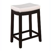 Linon Claridge Patches Counter Stool