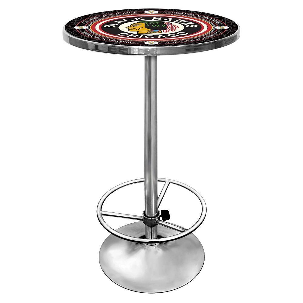 Chicago Blackhawks Chrome Pub Table