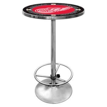 Detroit Red Wings Chrome Pub Table