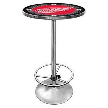 Detroit Red Wings Chrome Pub Table
