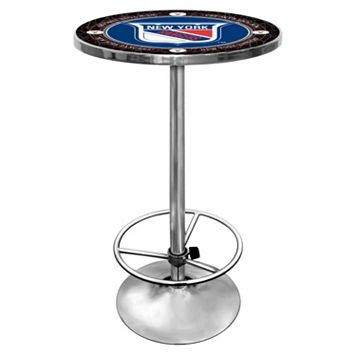 New York Rangers Chrome Pub Table