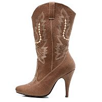 Cowgirl Costume Boots - Adult