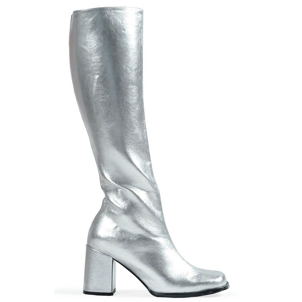 Silver Go-go Costume Boots - Adult
