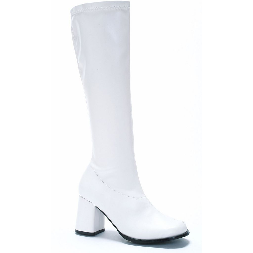 White Go-go Costume Boots - Adult