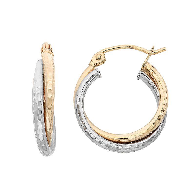hammered hoop earrings kohl 39 s. Black Bedroom Furniture Sets. Home Design Ideas