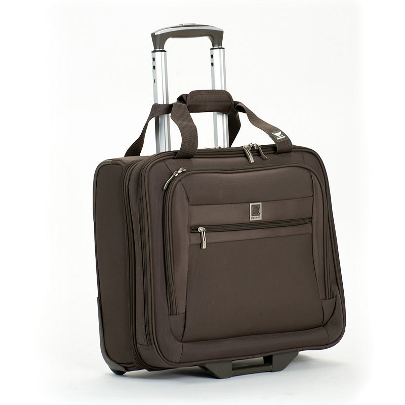 Delsey Luggage, Helium Hyperlite Wheeled 15.6-in. Laptop Business Case (Brown)