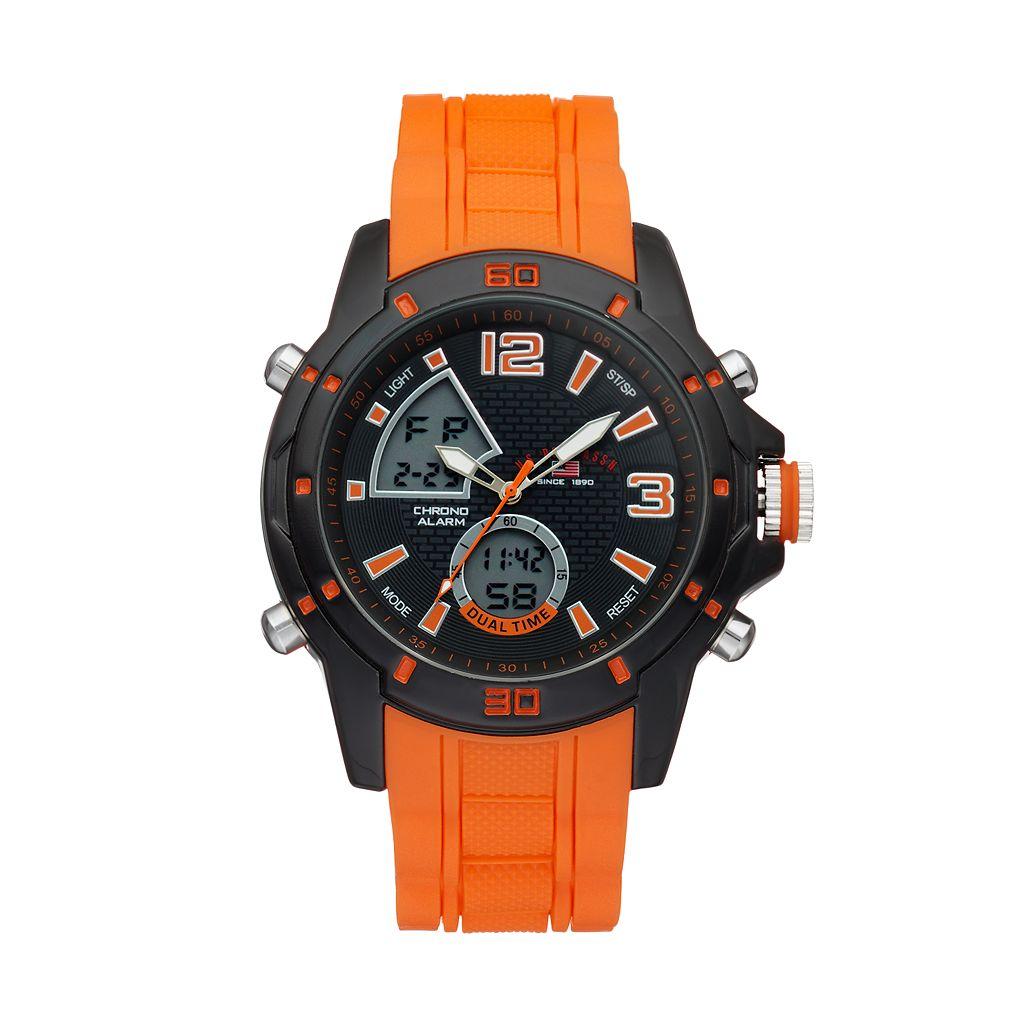 U.S. Polo Assn. Men's Dual Time Analog-Digital Watch - US9505