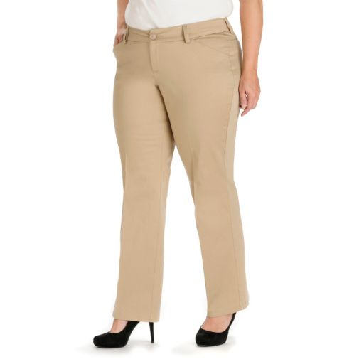 Plus Size Lee Maxwell Modern Fit Curvy Dress Pants
