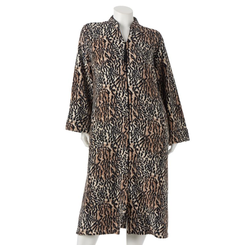 Jasmine Rose Animal Velour Robe - Women's Plus Size
