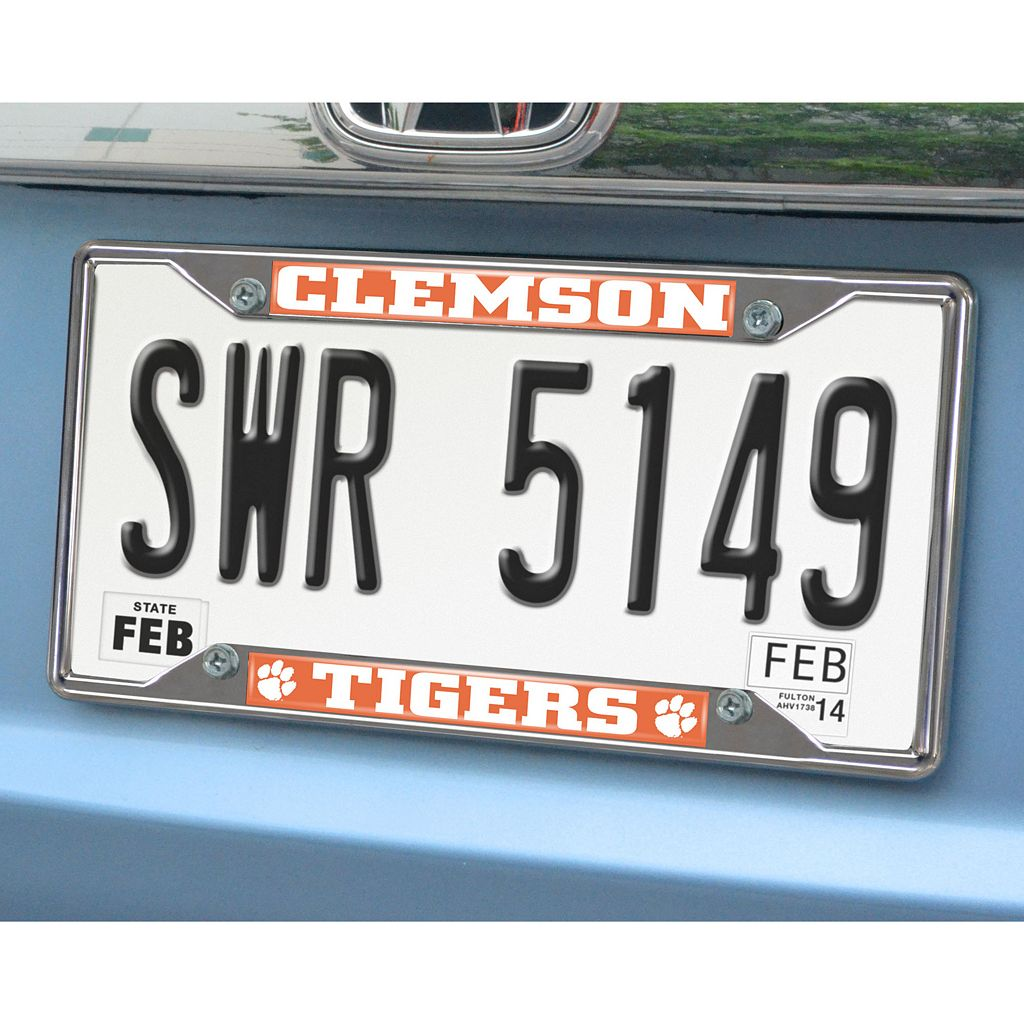 Clemson Tigers License Plate Frame