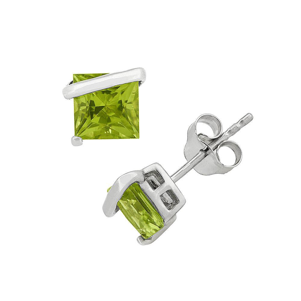 Peridot Sterling Silver Stud Earrings