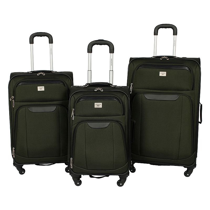Dockers Luggage, Cannary 3-piece Expandable Spinner Luggage Set