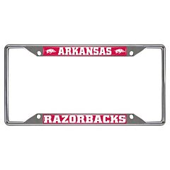 Arkansas Razorbacks License Plate Frame