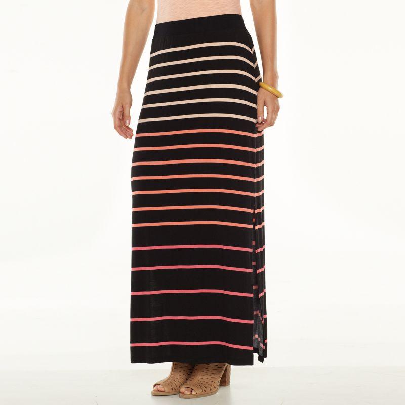 striped maxi skirt kohl s