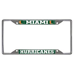 Miami Hurricanes License Plate Frame