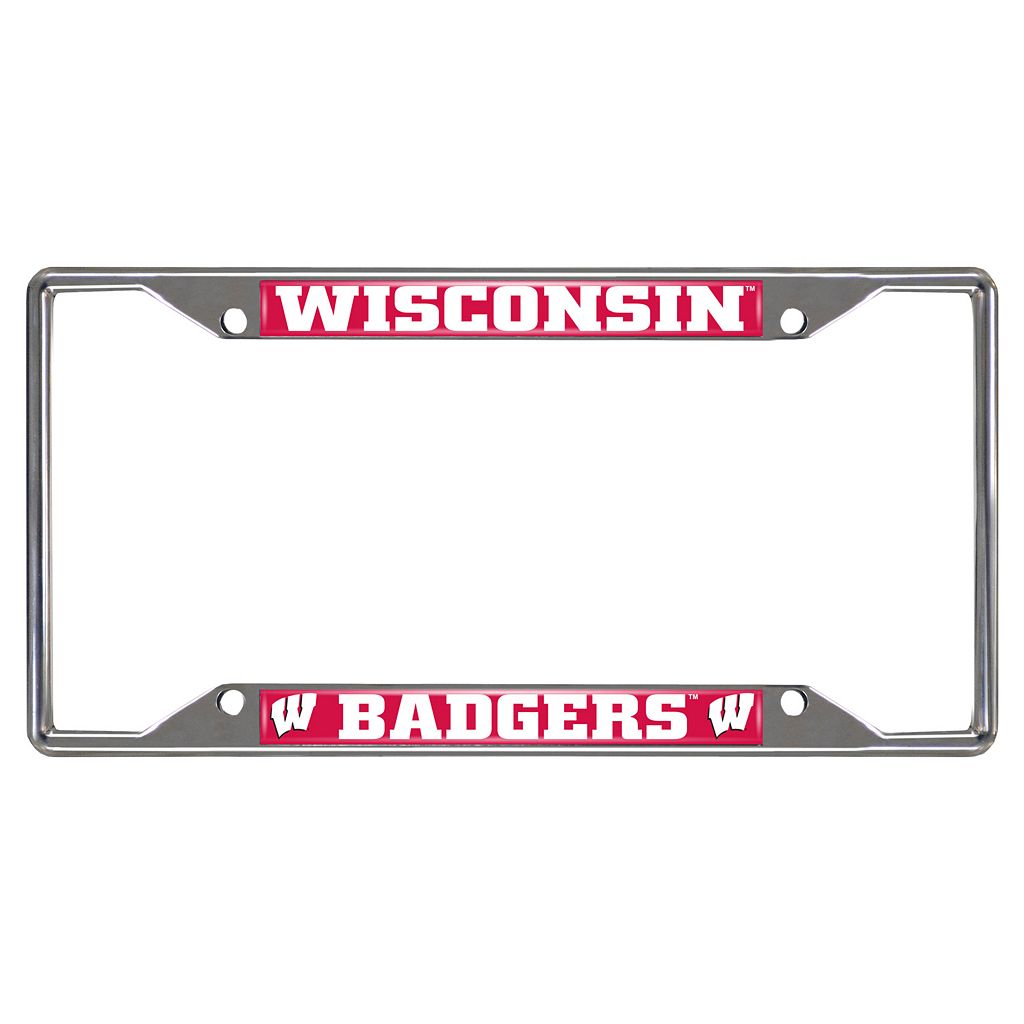 Wisconsin Badgers License Plate Frame
