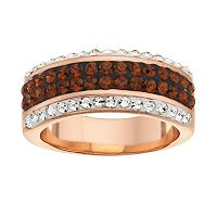 Crystal 14k Rose Gold Over Silver-Plated Ring