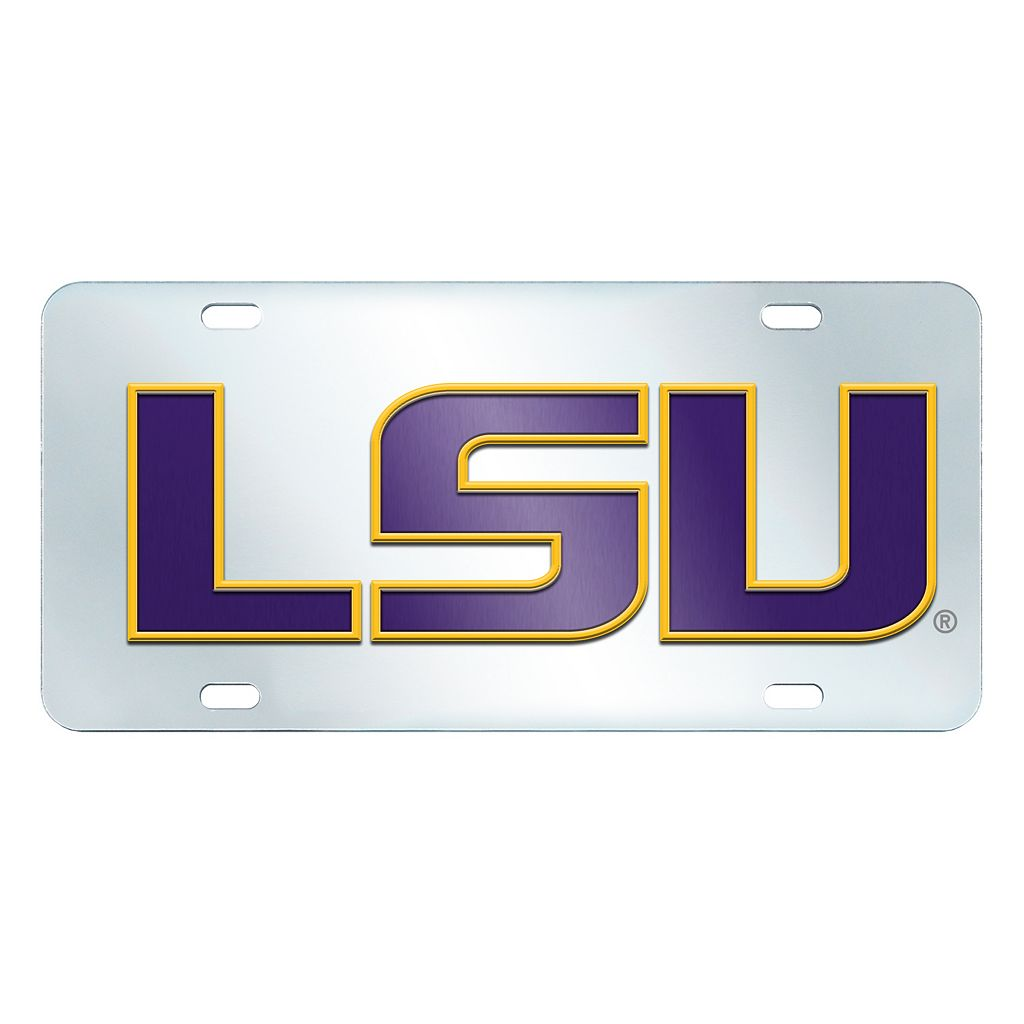LSU Tigers Mirror-Style License Plate