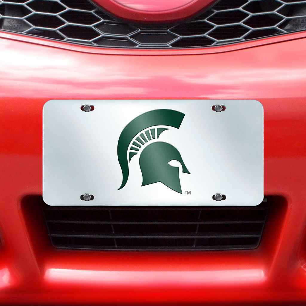 Michigan State Spartans Mirror-Style License Plate