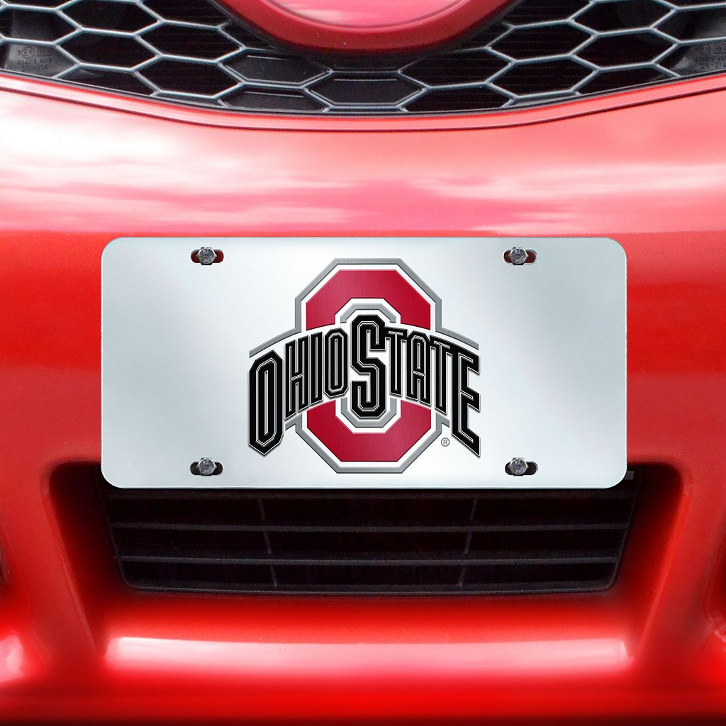Ohio State Buckeyes Mirror-Style License Plate