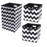 Modern Littles 3 pc Chevron Storage Bin Set